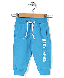 Baby League Track Pant With Drawstring - Turquoise Blue