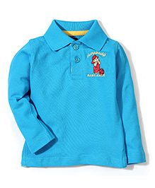 Baby League Full Sleeves Polo T-Shirt - Cyan Blue