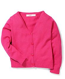 Fox Baby Full Sleeves Cardigan - Fuchsia