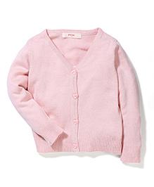 Fox Baby Full Sleeves Cardigan - Light Pink