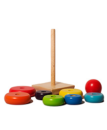 Shumee Rainbow Stacker  Wooden Yoy