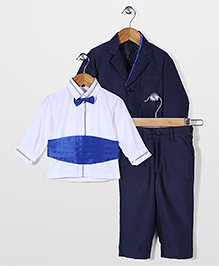 Robo Fry Shirt Coat And Trouser Party Suit - Blue White