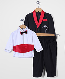 Robo Fry Shirt Coat And Trouser Party Suit - Black Red