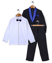 Robo Fry Shirt Coat And Trouser Party Suit - Black Blue