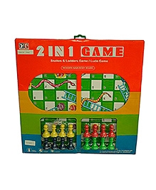 Adraxx Wooden Chess, Ludo And Snake And Ladder Game - Multicolor