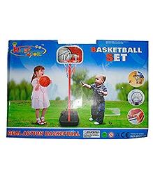 Adraxx Mini Basketball Net And Ball - Multicolor