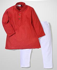 Babyhug Full Sleeves Kurta And Pajama - Red