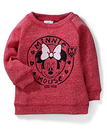 Fox Baby Minnie Mouse Printed Sweat T-Shirt - Red