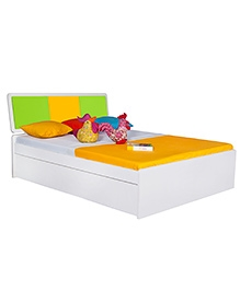Alex Daisy Young America Wooden Queen Size Bed - Yellow And Green