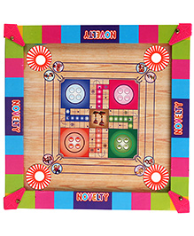 Lovely Mini Carrom Board - Multicolour