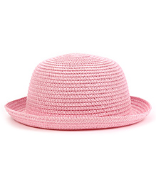 Babyhug Hat With Elastic Strap - Light Pink
