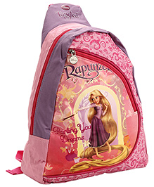 Disney Rapunzel School Bag Pink And Purple - Height 17 Inches