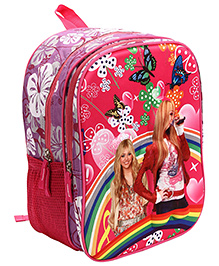 Hannah Montana School Back Pack Reddish Pink - 14 Inches