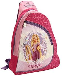 Disney Triangle Style Single Strap School Bag Rapunzel Print - Purple - 17 Inches