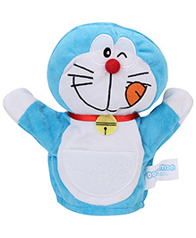 Doremon Puppet Soft Toy Blue White - 8 Inches
