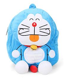 Doraemon Plush School Bag Blue - 11 Inches