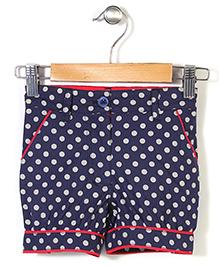 the DRAGON and the RABBIT Polka Dot Print Shorts - Navy Blue