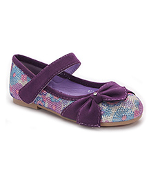 Bash Belly Shoes With Bow - Purple