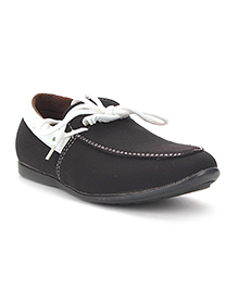 Bash Party Wear Shoes - Black White