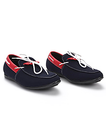 Bash Slip-On Style Loafer Shoes - Navy Red