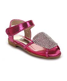 Bash Sandals With Rhinestones Detailing - Fuchsia
