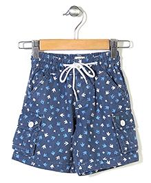 Pinehill Shorts Swallow Bird Print - Blue