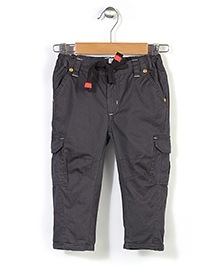 Pinehill Plain Trouser With Drawstring - Dark Grey