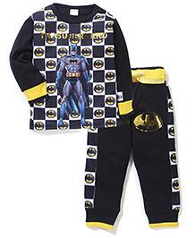 Batman Printed T-Shirt And Pant Set - Black