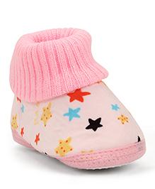 Cute Walk Booties Star Design - Pink