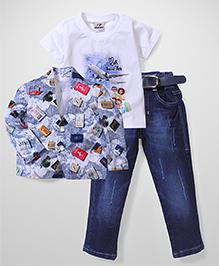 Formula 1 Multi Piece Clothing Set Pack Of 3 - Blue White