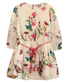 My Li'l Lambs Floral Dress - Off White