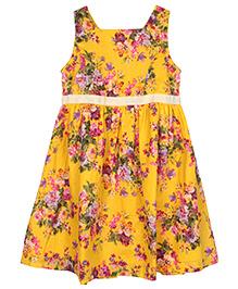 My Li'l Lambs Floral Dress - Yellow