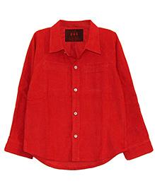 My Li'l Lambs Corduroy Shirt - Red