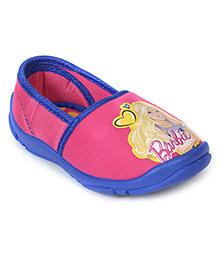 Barbie Slip-On Shoes - Pink Blue
