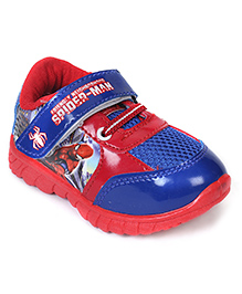 Spider Man Casual Shoes With Velcro Closure - Red Navy