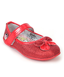 Barbie Belly Shoes Bow Applique - Red