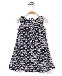 Pinehill Sleeveless Dress Animals Print - Navy Blue