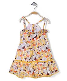 Pinehill Singlet Little Miss Sunshine Dress - Yellow And White