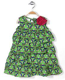 Pinehill Sleeveless Kaleidoscope Dress - Lawn Green