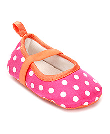 Baby Starters Polka Dot Booties - Pink
