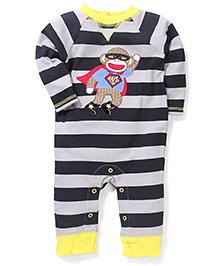 Baby Starters Monkey Print Romper - Multicolor