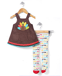 Mud Pie Peacock Design Set - Brown