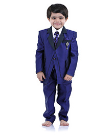 Babyhug 5 Piece Party Suit - Blue White