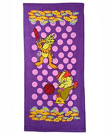 Sassoon Printed Towel - Purple