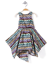 Pinehill Sleeveless Chevron Charm Dress - Multicolor