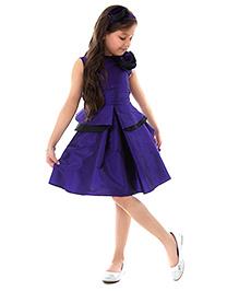 Kidology Frill Dress - Purple