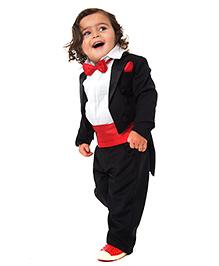 Kidology Charles Coat Tail Suit - Black