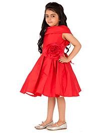 Kidology Shawl Collar Dress - Red