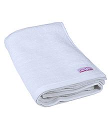 Mumma's Touch Organic Cotton & Bamboo Kids Bath Towel – White