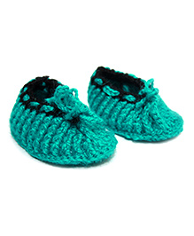 Nappy Monster Crochet Booties- Turquise